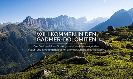 Screenshot Gadmer-Dolomiten