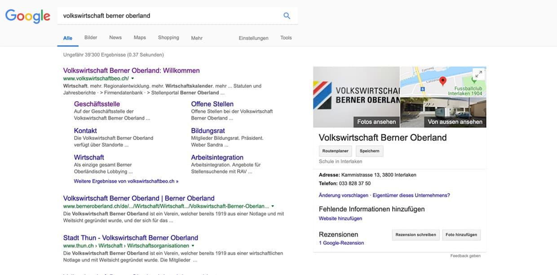Ein Google My Business Profil, dass noch nicht bestätigt wurde bzw. noch keinen Eigentümer hat.