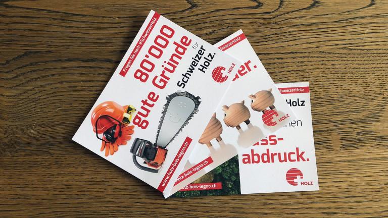 Kampagne für die Initiative Holz | BE.