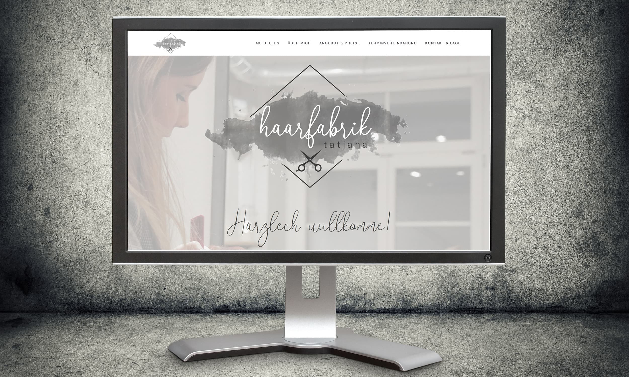 Screen Website Haarfabrik Tatjana