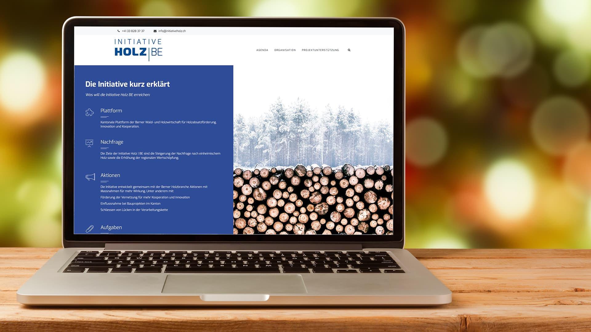 Screenshot Initiative Holz BE